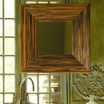 Concert 55.80.04 Mirror in Ebony Wood or Gold Frame