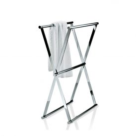 DW Cross 1 Free Standing Towel Stand in Chrome