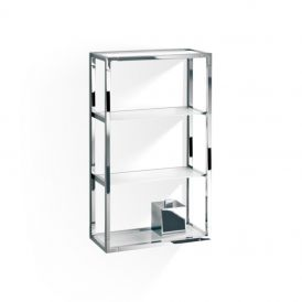 DW ET 6 Wall Rack in Frosted Glass