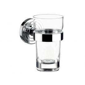 Polo 0720.001.00 Wall Mounted Tumbler in Clear Crystal Glass
