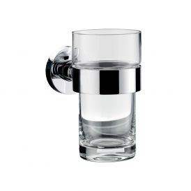 Eposa 0820.001.01 Wall Mounted Tumbler in Clear Crystal Glass