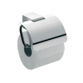 Mundo 3300.001.00 Toilet Paper Holder with Lid in Polished Chrome