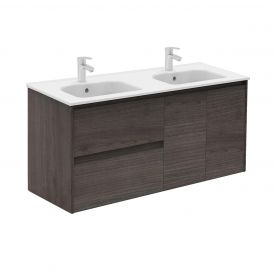 WS Bath Collections Ambra 120DBL Bathroom Vanity in Samara Ash