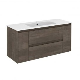 WS Bath Collections Ambra 120 Wall Mounted Bathroom Vanity in Samara Ash