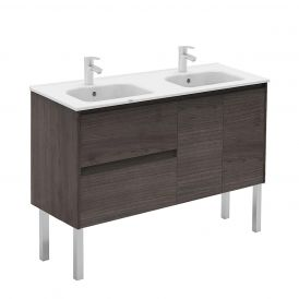WS Bath Collections Ambra 120F-DBL Bathroom Vanity in Samara Ash