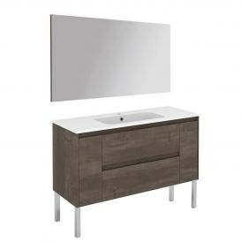 WS Bath Collections Ambra 120F Pack 1 Free Standing Bathroom Vanity with Mirror
