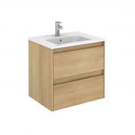 WS Bath Collections Ambra 60 Wall Mounted Bathroom Vanity in Nordic Oak