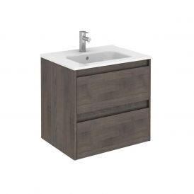 WS Bath Collections Ambra 60 Wall Mounted Bathroom Vanity in Samara Ash