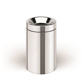 WS Bath Collections Basket 5354 Dust Bin with Bucket in Stainless Steel