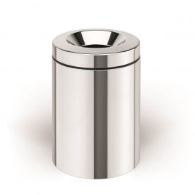 WS Bath Collections Basket 5355 Dust Bin with Bucket in Stainless Steel