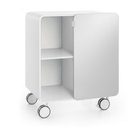 WS Bath Collections Bej 8030 Cabinet with Glass Door on Wheels