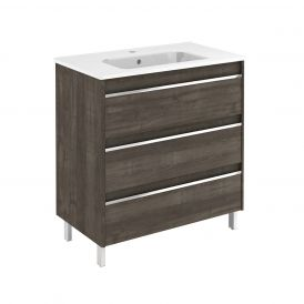 WS Bath Collections Belle 80 Free Standing Bathroom Vanity in Samara Ash