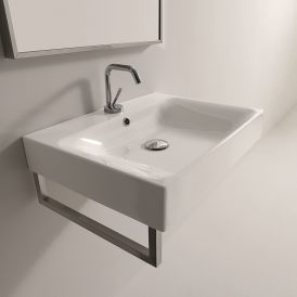 "WS Bath Collections Cento 3530 Wall Mounted / Vessel Bathroom Sink 19.7"" x 17.7"""