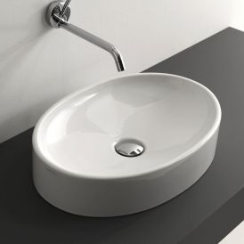 "WS Bath Collections Cento 3552 Vessel Bathroom Sink 19.7"" x 13.8"""