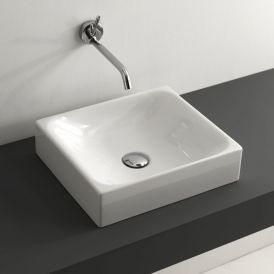 "WS Bath Collections Cento 3554 Vessel Bathroom Sink 15.7"" x 13.8"""