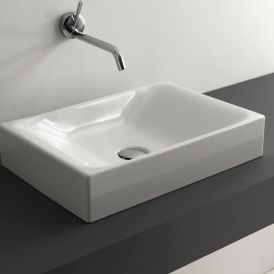 "WS Bath Collections Cento 3555 Vessel Bathroom Sink 19.7"" x 13.8"""