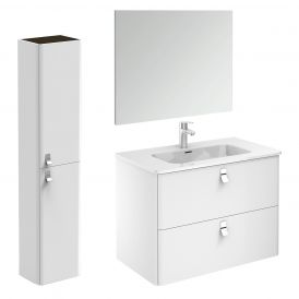 Concert 80 Pack 2 Complete Bathroom Vanity Unit with Column and Mirror