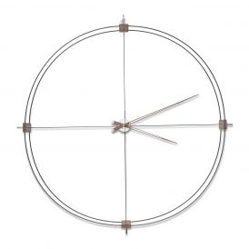Delmori Black Wall Clock