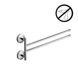 "WS Bath Collections Duemila 5517.29G Self-Adhesive 15.3"" Double Chrome Towel Bar"