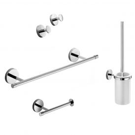 WS Bath Collections Duemila 5592 Accessory Set in Polished Chrome