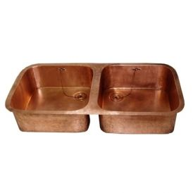 EDBL 400 Double Bar Sink in Antique Copper