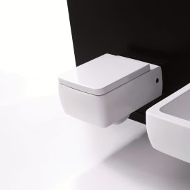 WS Bath Collections Ego Wall Mounted Toilet in Ceramic White