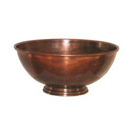 EV 360W Vessel Bathroom Sink in Antique Copper 14.2""