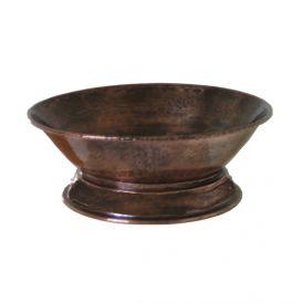 EV 526P Vessel Bathroom Sink in Antique Copper 15.8""