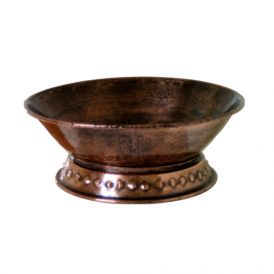 EV 526D Vessel Bathroom Sink in Antique Copper 15.8""