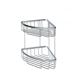 WS Bath Collections Filo 50032 Wall Mounted Two-Tier Corner Shower Caddy in Polished Chrome