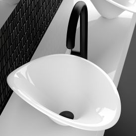 """WS Bath Collections FLOwer Vessel Bathroom Sink in Gloss Finish 18.1"""""""