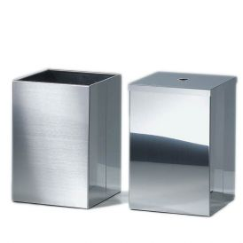 Harmony 209 Waste Basket with Cover in Stainless Steel