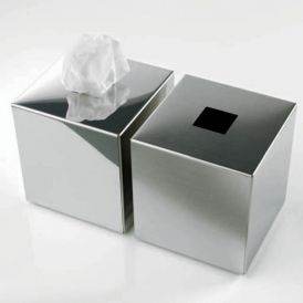Harmony 510 Tissue Box in Mat Stainless Steel