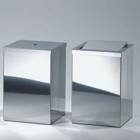 Harmony 210 Waste Basket with Revolving Cover in Stainless Steel