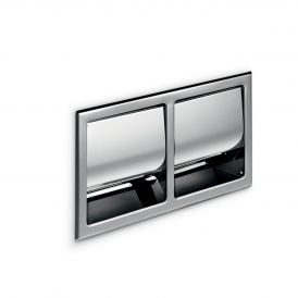 WS Bath Collections Hotellerie A8029D Built-in Double Toilet Paper Holder with Cover in Stainless Steel