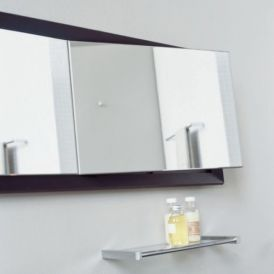Iside 51.80.62.246 Mirror with Folding Part in Wenge Wood Frame