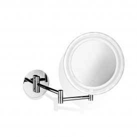 Smile 717T Hard-Wired Wall Mounted 5x Magnifying Mirror with Dimmable LED Light