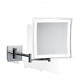 Smile 850T Hard-Wired Wall Mounted 5x Magnifying Mirror with Dimmable LED Light