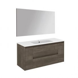 WS Bath Collections Ambra 120 Pack 1 Wall Mounted Bathroom Vanity with Mirror