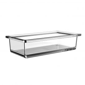 Liaison 1866.000.01 Free Standing Soap Dish in Clear Crystal Glass