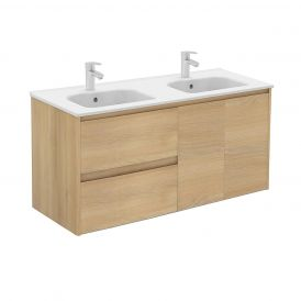 WS Bath Collections Ambra 120DBL Bathroom Vanity in Nordic Oak