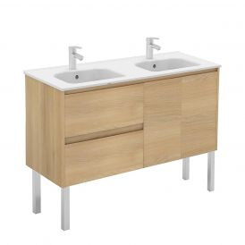 WS Bath Collections Ambra 120F-DBL Double Wall Mounted Bathroom Vanity 47.5""