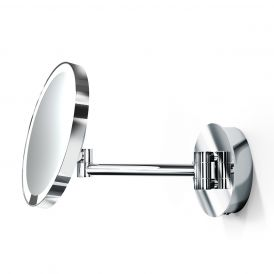 Smile 92 Hard-Wired LED Lighted 5x Magnifying Mirror in Polished Chrome