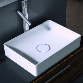 Vision 6050 Ceramic Countertop Bathroom Sink 19.7""