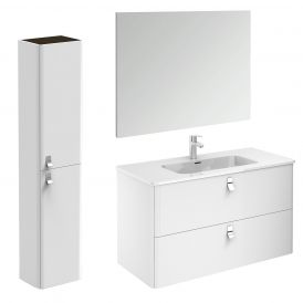 Concert 100 Pack 2 Complete Bathroom Vanity Unit with Column and Mirror