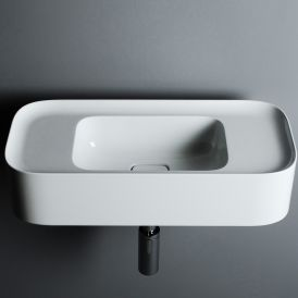 """WS Bath Collections Cameo 60.28 Wall Mounted / Vessel Bathroom Sink 23.6"""" x 11.0"""""""
