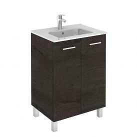 WS Bath Collections Logic 60 Free Standing Bathroom Vanity in Wenge