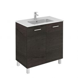 WS Bath Collections Logic 80 Free Standing Bathroom Vanity in Wenge