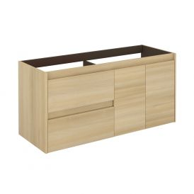 WS Bath Collections Ambra 120 DBL NO Vanity Base Unit in Nordic Oak