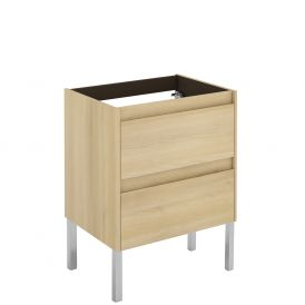 WS Bath Collections Ambra 60F NO Vanity Base Unit in Nordic Oak
